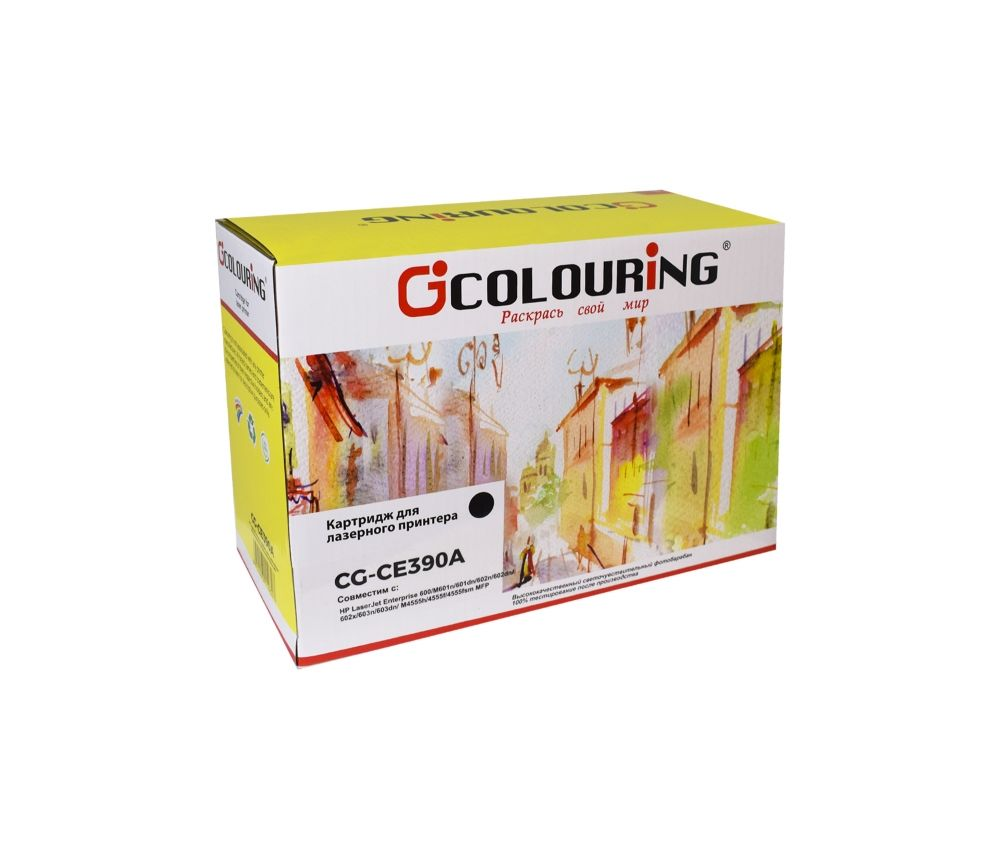 Картридж Colouring CG-CE390A для принтеров HP